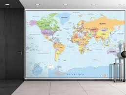 Map Home Decor Amazon Com Wall26 2016 Newest World Map Large Wall Mural