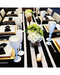 black and white table runners cheap spring savings on black and white stripe wedding and table runners