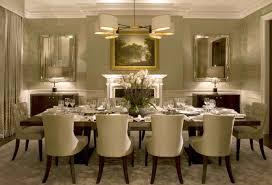 elegant formal dining room rectangular cream fabric motif stacking