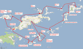 map of bvi and usvi bvi yacht charters trip review the woods family adventure aboard