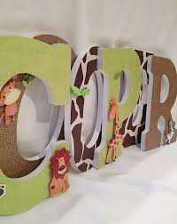 letters for nursery boy safari nursery decor jungle nursery