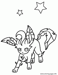 leafeon eevee pokemon coloring pages printable