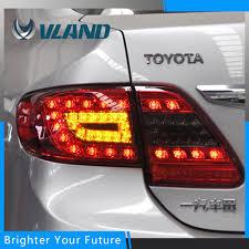 2011 toyota corolla brake light bulb smoked red led tail lights for toyota corolla 2011 2013 brake signal