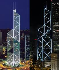 illuminating hong kong u0027s bank of china tower china urban