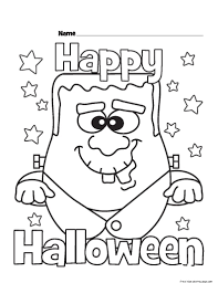 Happy Halloween Coloring Pages by Halloween Happy Monster Coloring Pages For Kidsfree Printable