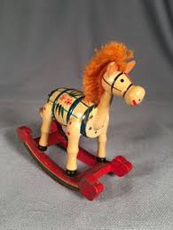 vintage wooden rocking ornament rocking horses and ornament