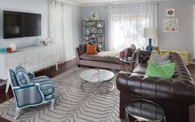 chesterfield sofa in living room bright bold and unusual in carmel indianapolis monthly