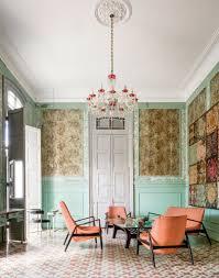 Wallpaper In Home Decor A Grand Havana Home Cuba Living Rooms And Revolution