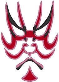 theater mask 2 embroidery design