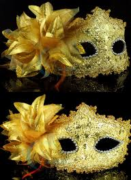 black and gold mardi gras 10pc lot venetian mardi gras party mask flower feather
