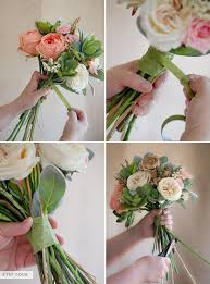 to make a flower bridal bouquet