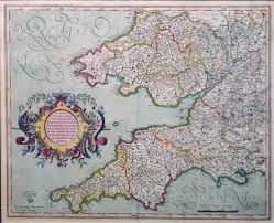 Somerset England Map by England And Wales 17th Century Map By Gerard Mercator Original