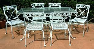vintage wrought iron patio furniture yellow garden by creekmore