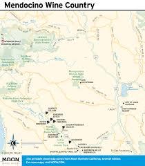 California Wine Country Map Printable Travel Maps Of Coastal California Moon Com