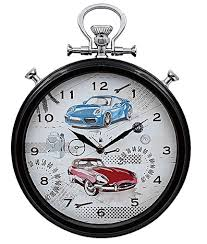 themed clock sports car themed wall clock
