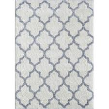 Black And White Modern Rug by Tayse Rugs Modern Shag White Gray 7 Ft 10 In X 9 Ft 10 In