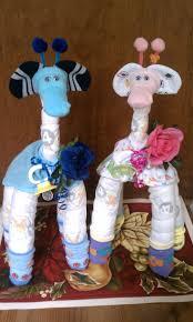 diaper cake diaper giraffe baby shower gift picmia