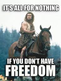 Braveheart Freedom Meme - braveheart american patriots are going to have to be brave to be