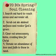Time For Spring Cleaning by Spring Cleaning Your Soul Anew Season