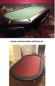 how to build a poker table diy 8 standard poker table building kit 13 color choices build