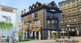 sims4 waterside street 餐廳 花店和服裝店no download link ruby u0027s
