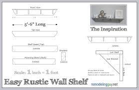 diy rustic shelf u2013 illustrated how to