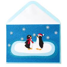 two felt penguins christmas greeting cards papyrus