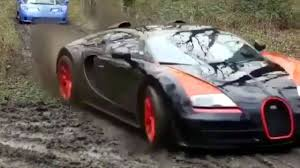 bugatti transformer supercars go dirt racing in crazy video