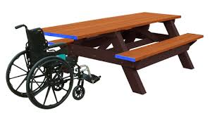 recycled plastic picnic tables orangutan universal access picnic table recycled hdpe