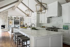 vaulted ceiling beams remodeled white kitchen with vaulted ceiling beams home bunch