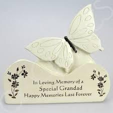 special grandad butterfly graveside memorial plaque ornament