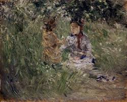 the monet family in their garden at argenteuil julie with pasie in the garden at bougival 1881 berthe morisot