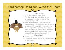thanksgiving read and write the room fry s 100 by finnin s