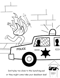 firework safety coloring book