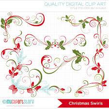free christmas decorative flourish swirls by thehungryjpeg