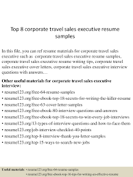 travel writing jobs images Top 8 corporate travel sales executive resume samples jpg