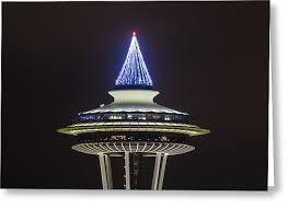 space needle christmas tree photograph by matt mcdonald