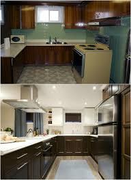 cuisine avant apr鑚 design interieur relooking cuisine bois armoires bois fonce blanc