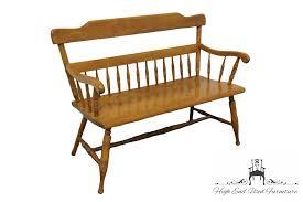 high end used furniture ethan allen heirloom nutmeg maple 48