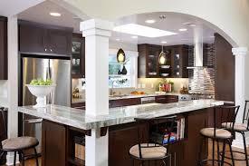 modern kitchen with brown cabinets espresso kitchen cabinets trendy color for your kitchen