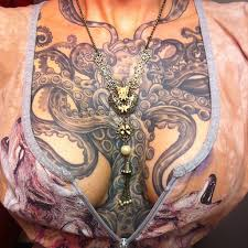 with amazing tattooed chest pieces rebelcircus