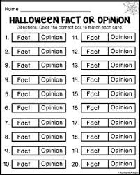 halloween fact or opinion activity freebie by kaitlynn albani