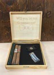 wooden personalized gifts groomsman gift box rustic cigar box best personalized gift