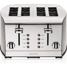 Cuisinart 4 Slice Toaster Review Krups 4 Slice Toaster Brushed And Chrome Stainless Steel Silver