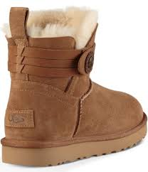 ugg boots sale at dillards ugg elva pull on ankle booties in brown lyst