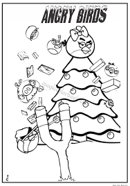 angry bird christmas coloring pages