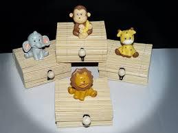 deco jungle bapteme boîtes bambou à dragées animaux jungle x4 thèmes animaux