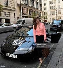 pure rally present the first london lamborghini taxi photocall