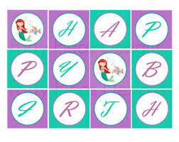 mermaid themed tags instant download