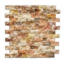 Free Backsplash Samples by Scabos 1 X 2 Split Faced Travertine Brick Mosaic Tile 6 X 6